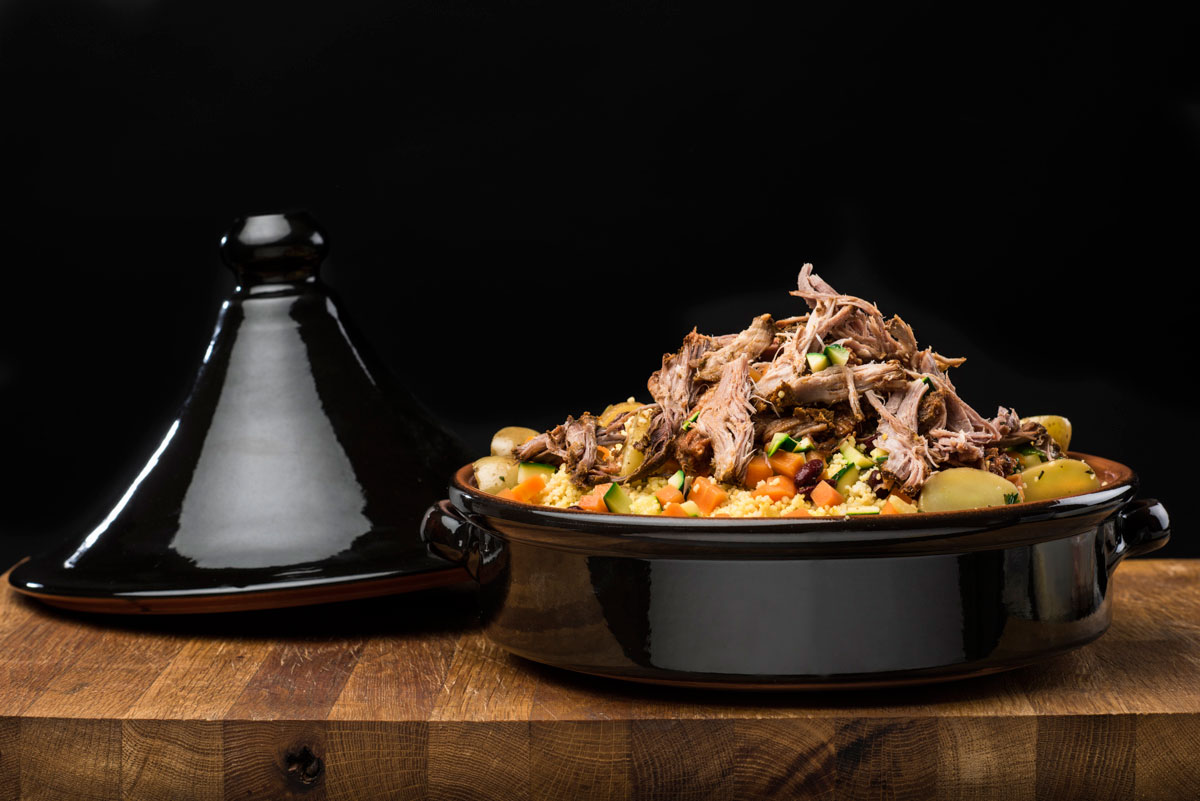 Cous Cous e Pulled Parma Slow Cooked